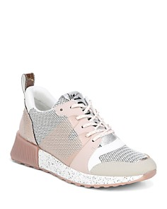 Sam Edelman - Women's Darsie Leather & Mesh Lace Up Sneakers