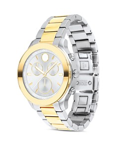 Movado BOLD - Sport Two-Tone Yellow Gold Chronograph, 39mm