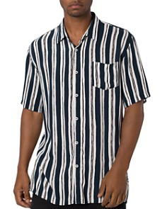 Zanerobe - Impression Short-Sleeve Striped Regular Fit Shirt