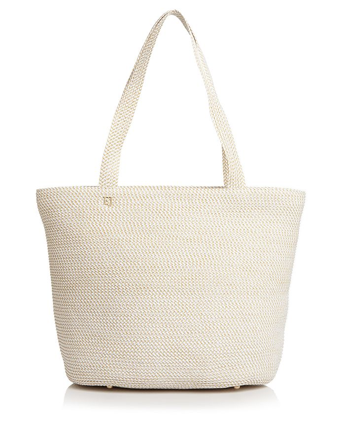 Eric Javits Squishee Tote In White/gold