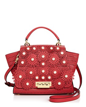 ZAC Zac Posen - Eartha Kitt Medium Embellished Perforated Leather Satchel  ... e9715b812c