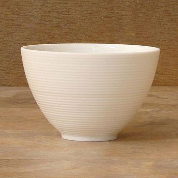 """JL Coquet - J•L Coquet """"Hemisphere"""" White Salad Bowl, Small"""