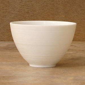 JL Coquet Hemisphere White Salad Bowl, Small