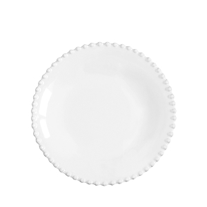 Costa Nova White Pearl Pasta Plate