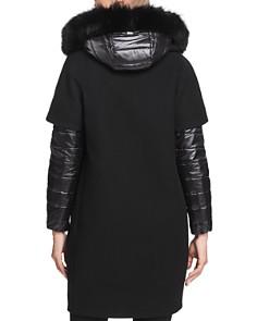 Herno - Fur Trim Mixed Media Coat
