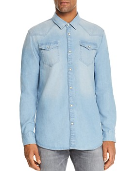 Scotch & Soda - Bleached Indigo Denim Regular Fit Western Shirt