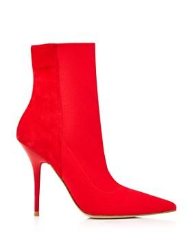 AQUA - Women's Mine Suede & Stretch Stiletto Booties - 100% Exclusive