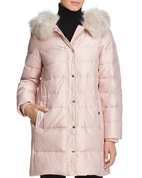 9e7eb1c26ec9 kate spade new york - Faux Fur Trim A-Line Puffer Coat ...