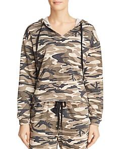 Honey Punch - Studded Camo Hooded Sweatshirt
