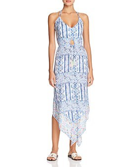 Surf Gypsy - Pop Border Print Halter Dress Swim Cover-Up