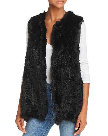 525 America - Knit-Back Real Rabbit Fur Vest