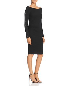 Red Haute - Snap-Sleeve Ruched Dress