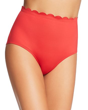kate spade new york - Scalloped High-Waist Bikini Bottom