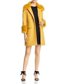 kate spade new york - Faux-Fur Collar Coat