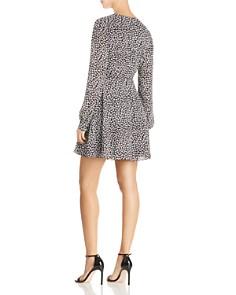 AQUA -  Floral Print Wrap Dress - 100% Exclusive