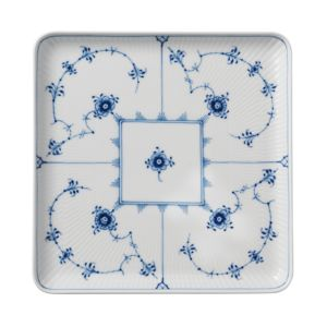 Royal Copenhagen Blue Fluted Plain Large Square Plate