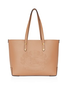 Burberry - Small Embossed Crest Leather Tote