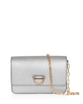 Burberry - Mini Metallic Leather D-Ring Shoulder Bag