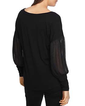 1.STATE - Embroidered Sleeve Sweater