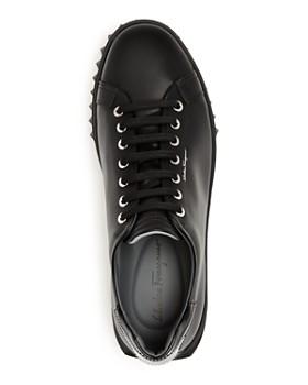Salvatore Ferragamo - Men's Cube Leather Low-Top Sneakers