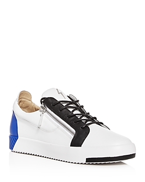 Giuseppe Zanotti Men\\\'s Color-Block Leather Low-Top Sneakers