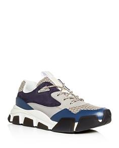 Salvatore Ferragamo - Men's Booster Mixed Media Low-Top Sneakers
