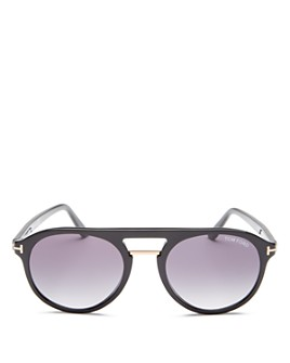 Tom Ford - Men's Ivan Flat Top Round Sunglasses, 54mm