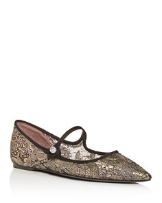 Tabitha Simmons - Women's Hermione Spark Pointed-Toe Flats
