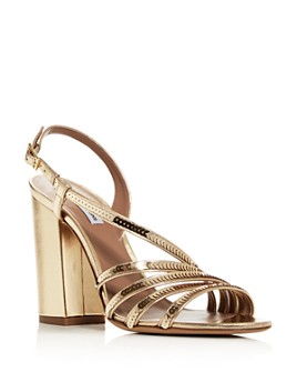 Tabitha Simmons - Women's Viola Sequin Strappy High Block-Heel Sandals