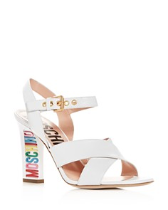 Moschino - Women's Crisscross High-Heel Sandals