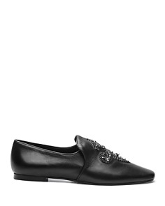 The Kooples - Women's Lili Flower Leather Loafers