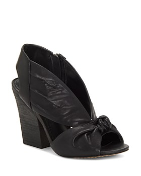 VINCE CAMUTO - Women's Kerra Knotted Suede High-Heel Slingback Sandals