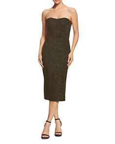 Dress the Population - Claire Strapless Shimmer Sheath Dress