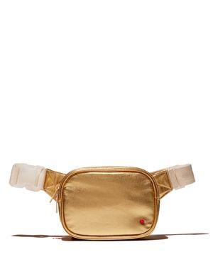 STATE Crosby Metallic Belt Bag in Gold/White