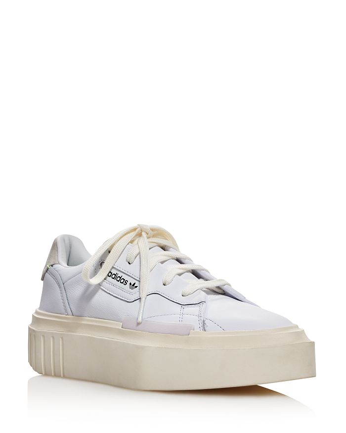Adidas - Women's Hypersleek Pointed Toe Leather Platform Sneakers