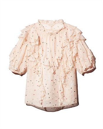 1400f0b7cbf Rebecca Taylor Glitter Gem Silk Top | Bloomingdale's