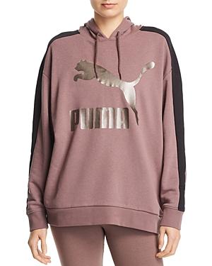 PUMA | Puma Classics T7 Logo Hooded Sweatshirt | Goxip