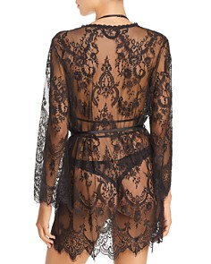 In Bloom by Jonquil - Sheer Lace Short Robe