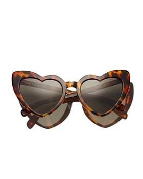 Saint Laurent - Women's Lou Lou Heart Sunglasses, 53mm