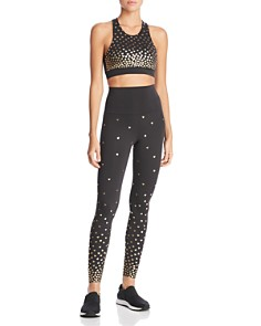 Beach Riot - Metallic Heart Print Leggings - 100% Exclusive