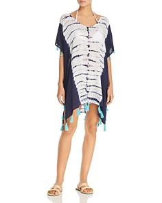 Surf Gypsy - Tasseled Tie-Dye Tunic Swim Cover-Up