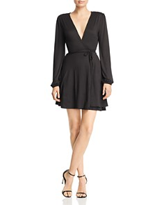 Sadie & Sage - Deep-V Wrap Dress