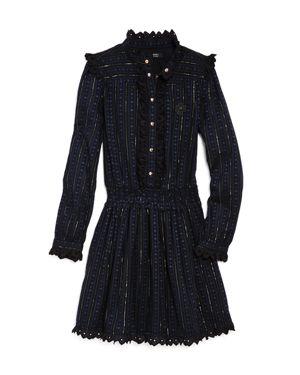 Scotch R'Belle Girls' Mock-Neck Metallic-Striped Dress - Little Kid, Big Kid