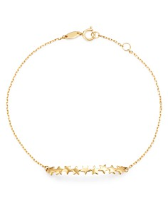 Moon & Meadow - Multi-Star Station Chain Link Bracelet in 14K Yellow Gold - 100% Exclusive