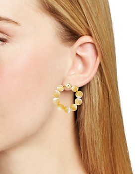 Beck Jewels - Beaded Frontal Hoop Earrings