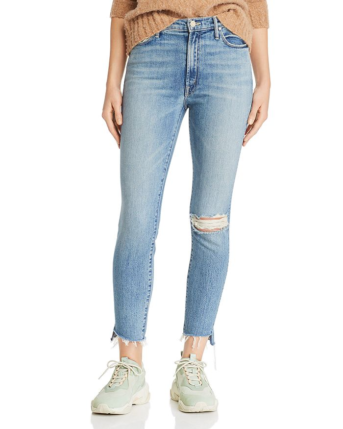 252747f4a1040 MOTHER - Stunner Ankle Distressed Step-Hem Fray Skinny Jeans in Exposed  Secret Sister