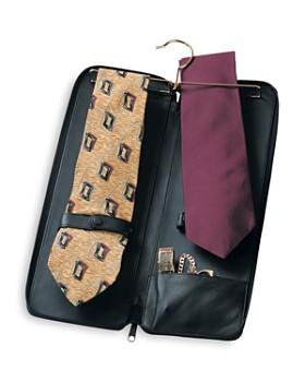 ROYCE New York - Leather Travel Tie Case & Cufflink Storage