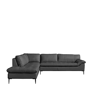 A contemporary frame tempered with traditional tufting detail defies ephemeral design trends. Knife-edged seats with cushioned backs are balanced by graceful steel legs.