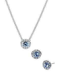 Givenchy - Pavé Necklace & Earrings Set