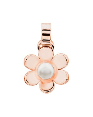 TOUS Happy Cultured Freshwater Pearl Flower Charm in White/Rose Gold